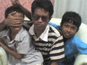 playing with the brothers. bi, faiz and ie.