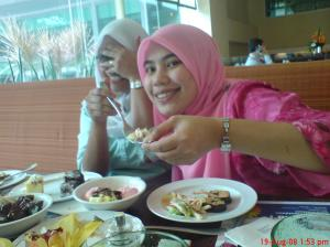 having lunch with [the camera shy?] soleha