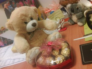 a teddy and chocs from shida...